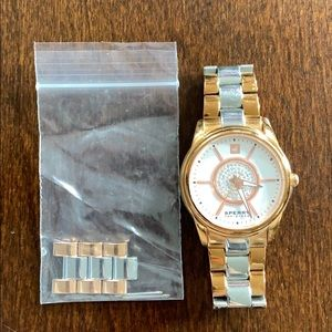 Sperry Top-Slider Gold and Silver Watch